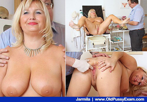 Busty Smiling Blonde Gets Muff Observation on Nurse practitioner office Chair