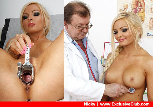 Fantastic blondie gets examined by a Physician