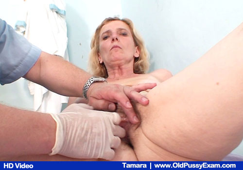 Mature Tamara Gets Pussy Examined By Gloved Hand